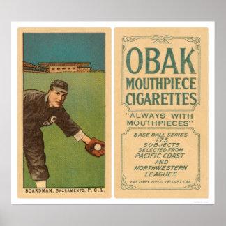 Boardman Sacramento baseball 1910 Poster