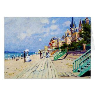 Boardwalken på Trouville Claude Monet OBS Kort