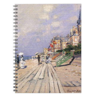 Boardwalken på Trouville vid Claude Monet Anteckningsbok Med Spiral