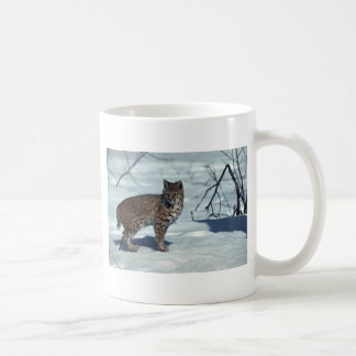 Bobcat på snö vit mugg