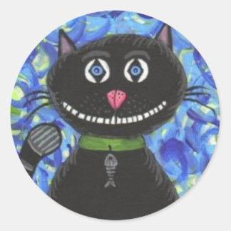 BoBo den svart katten - klistermärke