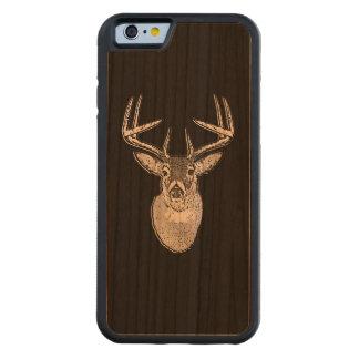 Bock på det svart huvudet för vitsvanhjort carved körsbär iPhone 6 bumper skal