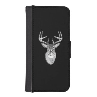 Bock på svart hjort för designvitsvan iPhone SE/5/5s plånboksfodral