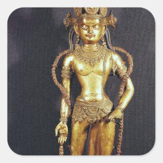 Bodhisattva Avalokitecvara, 15th-16th århundrade Fyrkantigt Klistermärke