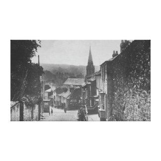 Bodmin backe, Lostwithiel, Cornwall Canvastryck