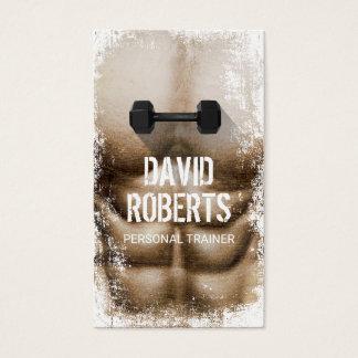 Bodybuilding personlig instruktör för visitkort