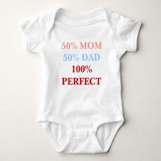 Bodyshirt för bebis för pappa 100% för 50% mamma tee shirt