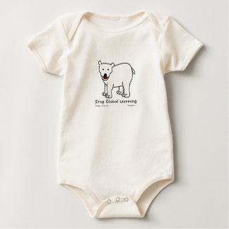 "Bodysuit ""polar björn "" för baby för bodies för bebisar"