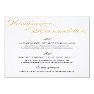 Boendekort - guld & svart 11,4 x 15,9 cm inbjudningskort