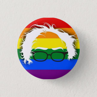 Bög/lesbisk för Bernie slipmaskiner Mini Knapp Rund 3.2 Cm