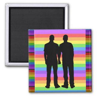 Bögen för regnbågehjärtakärlek LGBT knäppas Magnet