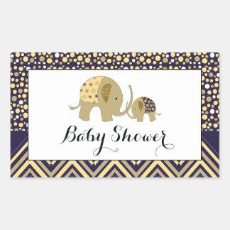 Bohemisk elefant- och sparrebaby shower rektangulärt klistermärke