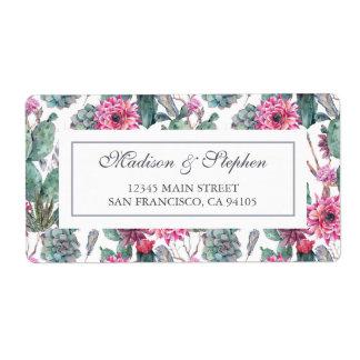 Bohemisk suckulent & blommigt - bröllop fraktsedel
