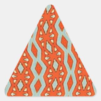 Bohemiskt orange tryck triangelformat klistermärke
