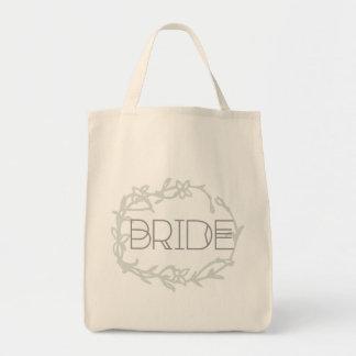 Bohemmet utformat högväxt bröllop för brud   mat tygkasse