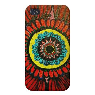Boho blommaiphone case iPhone 4 skydd