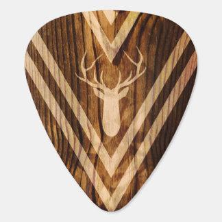 Boho hjort på lantligt trä plektrum