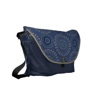 Boho Medallian messenger bag - blått