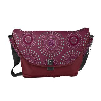 Boho Medallian messenger bag - Bordeaux