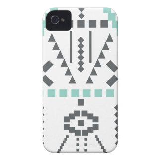 Boho Totem, etniskt symbol, Hippie, Aztec som är Case-Mate iPhone 4 Skydd