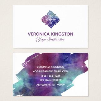 Boho vattenfärg visitkort