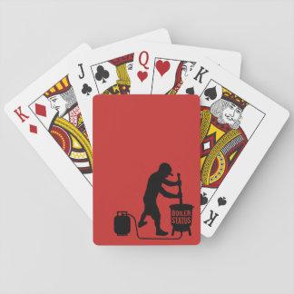 boilerstatus som leker kort spel kort