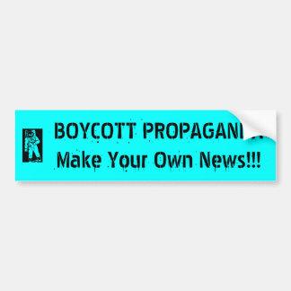 Bojkottpropagandaklistermärke Bildekaler