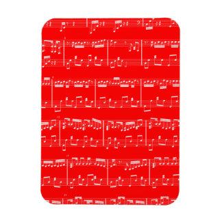 Böjlig magnet för röd notblad