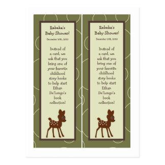 Bok 2 markerar för ugglahjort för skogen den djura vykort