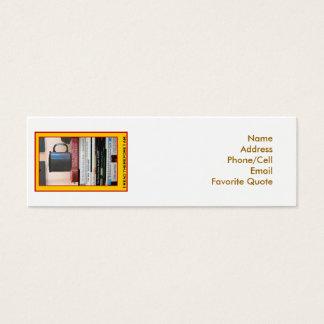 Bok-Älskare bokmärke Litet Visitkort
