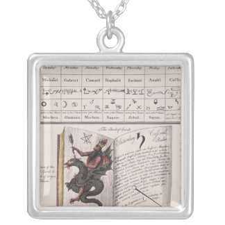 Bok av andar silverpläterat halsband