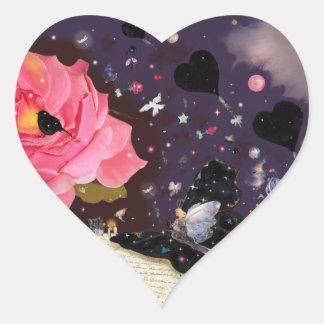 Bok av sagor! hjärtformat klistermärke
