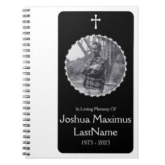 bok för gäst för arg begravning för elegant anteckningsbok med spiral