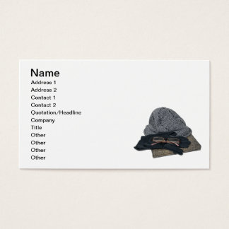 Bok för handskar för Tweedhattexponeringsglas Visitkort