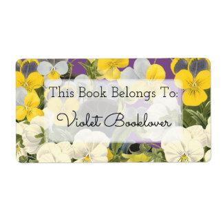 BokägarmärkeViolets och blom- beställnings- Fraktsedel