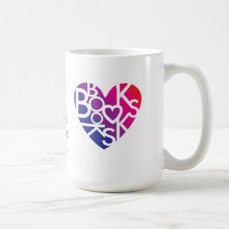 Bokälskare Heart® mugg