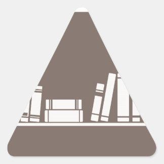 Bokar älskare! triangelformat klistermärke