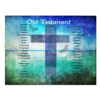Bokar av den bibel listade GAMMALA testamentet Vykort