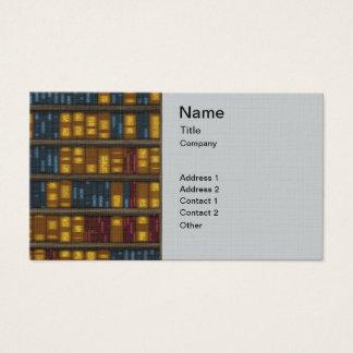 Bokar bokar, bokar - bokhyllamönster visitkort