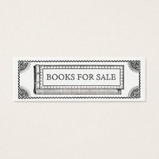 Bokar den utsmyckade boken för vintage, antikvitet litet visitkort