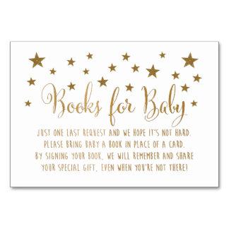 Bokar för babymellanläggskort bordsnummer