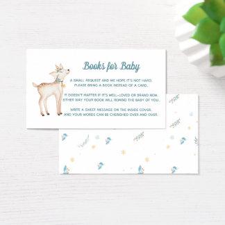 Bokar för vinterskogsmarkbaby shower för babykort visitkort