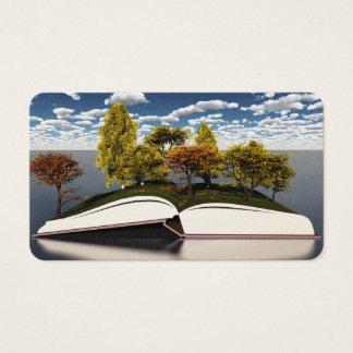 Bokar från träd visitkort