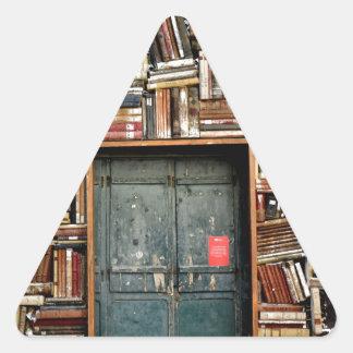 Bokar och bokar triangelformat klistermärke