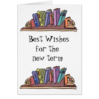 Bokar och lära hälsningskort