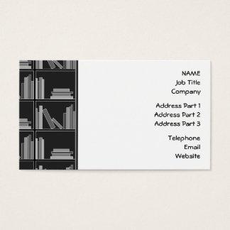 Bokar på hylla. Grått, svart och White. Visitkort