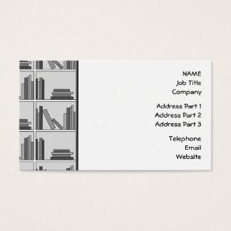 Bokar på hylla. Monochrome. Visitkort