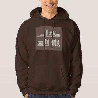 Bokar på hyllan för läs- älskare eller klok grabb hoodie