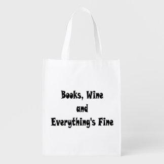 Bokar som vin allt är fint återvinningsbart, återanvändbar påse