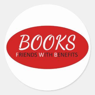 Bokar - vänner med gynnar runt klistermärke